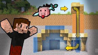 TAJNE WEJŚCIE przez SPŁUCZKĘ! - Minecraft Kwadratowa Masakra