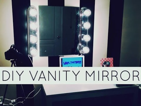 diy lighted vanity mirror. DIY  Hollywood Lighted Vanity YouTube