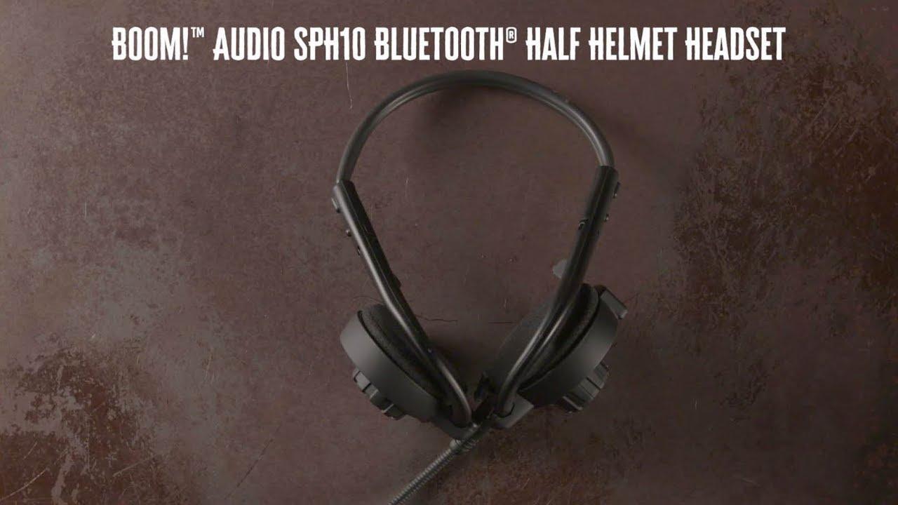 ed2c66c3a2a Boom! Audio SPH10 Bluetooth Half Helmet Headset | Harley-Davidson ...