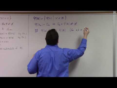 Abstract Algebra II: module homomorphism basics, 3-6-17