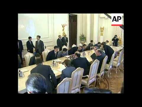 RUSSIA: RUSSIA/JAPAN TERRITORIAL DISPUTE TALKS
