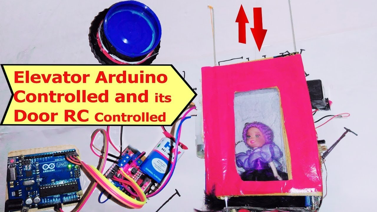 How To Make An Elevatorliftcontrolled By Arduino Its Door Buy Electronics And Kit Get It Shipped Your Doorstep Opening Closing Electronic Controlled