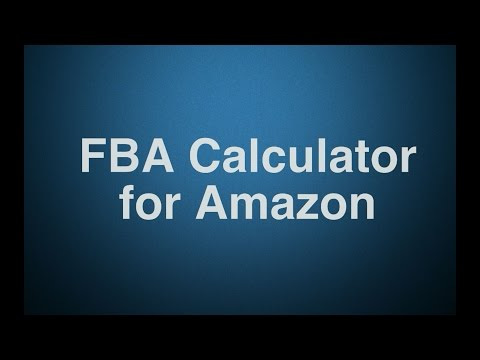 fba calculator for amazon chrome extension