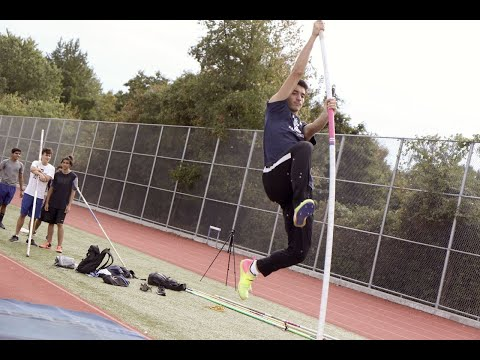 One of the top-ranked pole vaulters on Staten Island owns the sky