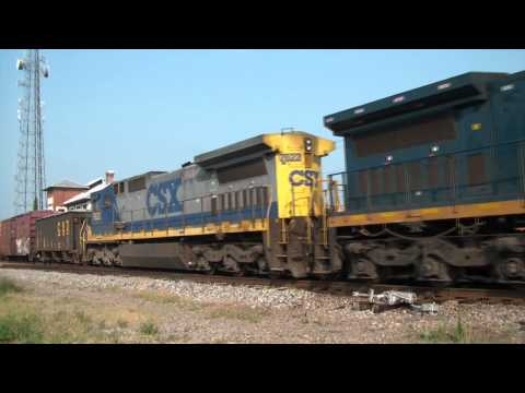 (HD) CSX Railfanning: Waycross, Georgia June 13, 2011 Part 1