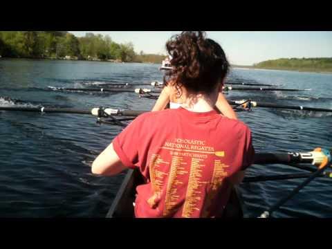 JonesCAM HD cap cam during practice with Saratoga Rowing Associations