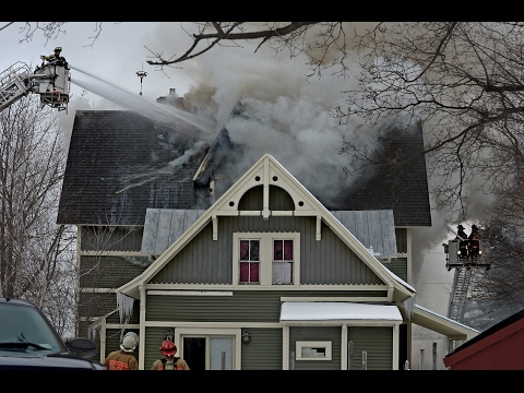 Live broadcast from structure fire at Adams Center, NY