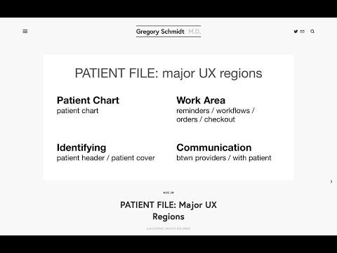 PATIENT FILE: Major UX Regions — Gregory Schmidt