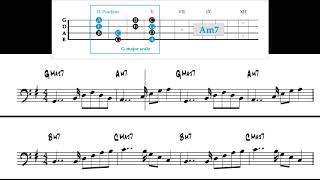 Sightreading for electric bass (part 5) -  Exercise #37