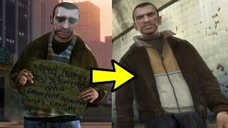 Is this hobo in GTA 5 actually Niko Bellic? (solved)