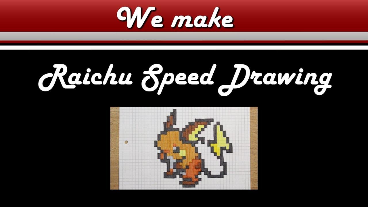 Pixel Art Pokemon Raichu Drawing