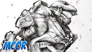 Dibujando a Halo 5 - Master Chief - Lapiz