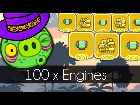 Bad Piggies - 100 x ENGINES (Field of Dreams) - Part 2