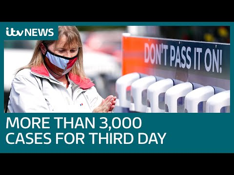 New coronavirus cases rise by more than 3,000 in the UK for third day in a row | ITV News
