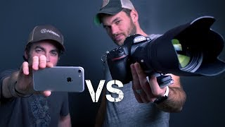 iPhone Vs $5000 CAMERA CHALLENGE