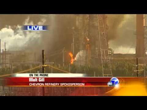 Chevron Oil Refinery Fire, in Richmond, California