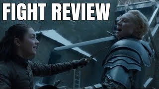 Arya Stark vs Brienne of Tarth | Game of Thrones episode 7x4 Fight Review (Needle vs Longsword)