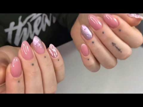 Дизай ногтей минимализм. Укрепление ногтей гелем без опила.