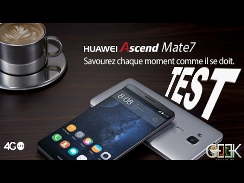 Huawei Ascend mate 7 test video par Glg