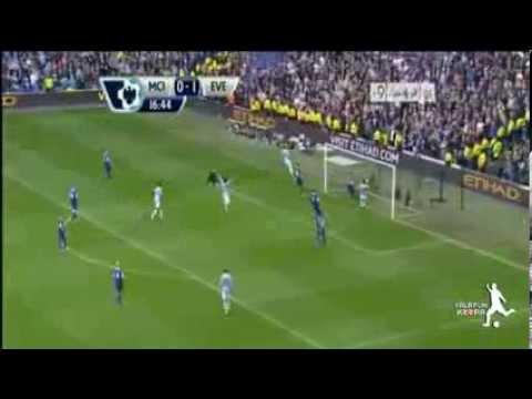اهداف مباراة مان سيتي وايفرتون 3 1 5  10  2013 [الدوري
