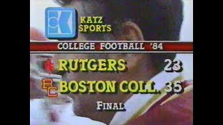 Rutgers vs  Boston College Football 1984