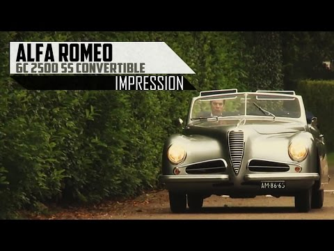 ALFA ROMEO 6C Convertible - Modest test drive in top gear - Engine sound | SCC TV