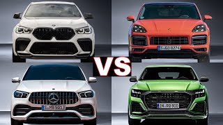 Top 5 Most Luxury SUVs Coupe! (2020) BMW X6 vs Cayenne Coupe vs Gle Coupe  vs Q8. Top 5 Rated!