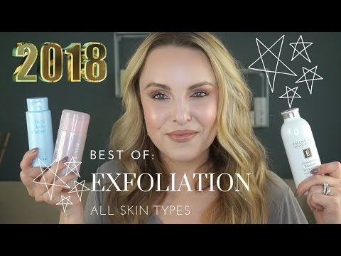 2018 BEST OF: PHYSICAL/ACID EXFOLIATION FOR ALL SKIN TYPES || Smooth and Textured Skin