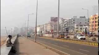 Vizag RK Beach Road Washed away in Sea