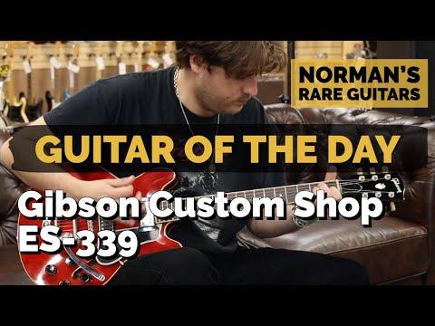 Guitar of the Day: Gibson Custom Shop ES339 Cherry | Norman&39;s Rare Guitars