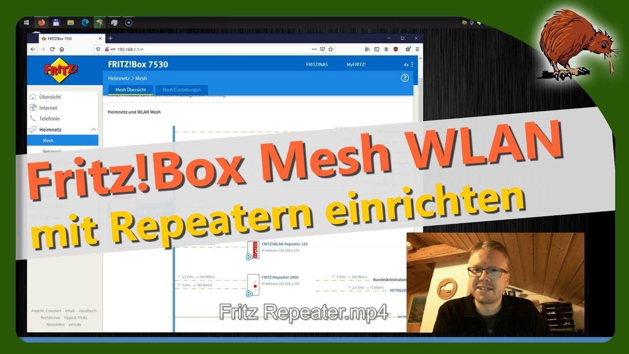 WLAN mit Repeatern erweitern   Fritz WLAN Mesh einrichten