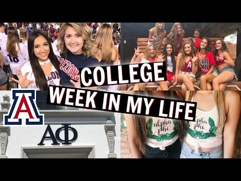 COLLEGE WEEK IN MY LIFE! | UNIVERSITY OF ARIZONA!!