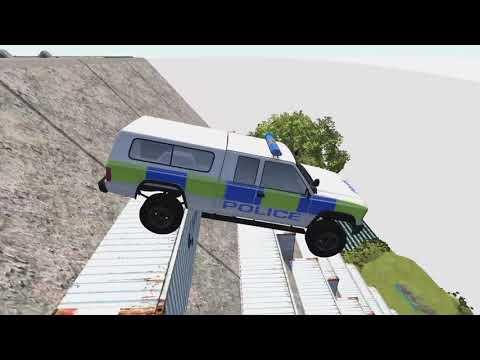Прыжки перевороты аварии BeamNG Тачки летят в пропасть Разбиваем машинки Авто иг