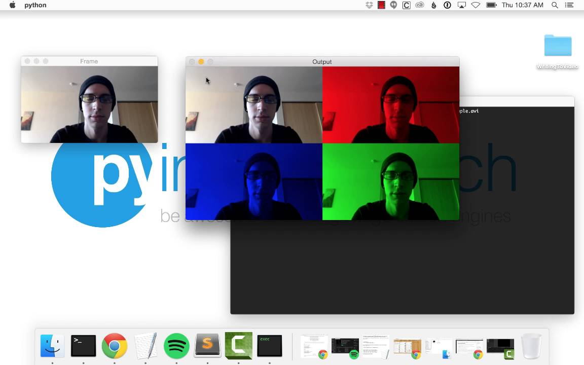 Writing to video with OpenCV - PyImageSearch