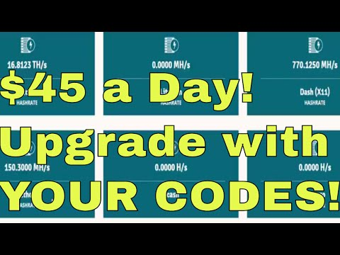 $45 Dollars A DAY On Genesis MIning + MORE UPGRADES With YOUR CODES!!