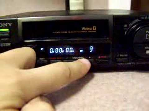 Sony 8mm video player Vcr - YouTube