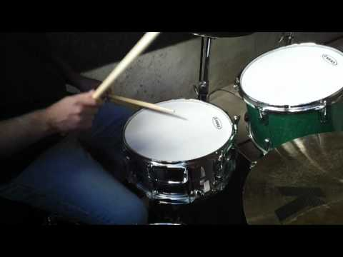 Evans G1 Coated versus G2 Coated Drum Heads - Ludwig Brass Supraphonic