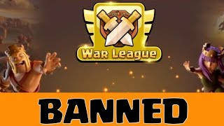 AVOID THINGS TO GET BANNED IN CWL , CLASH OF CLANS INDIA