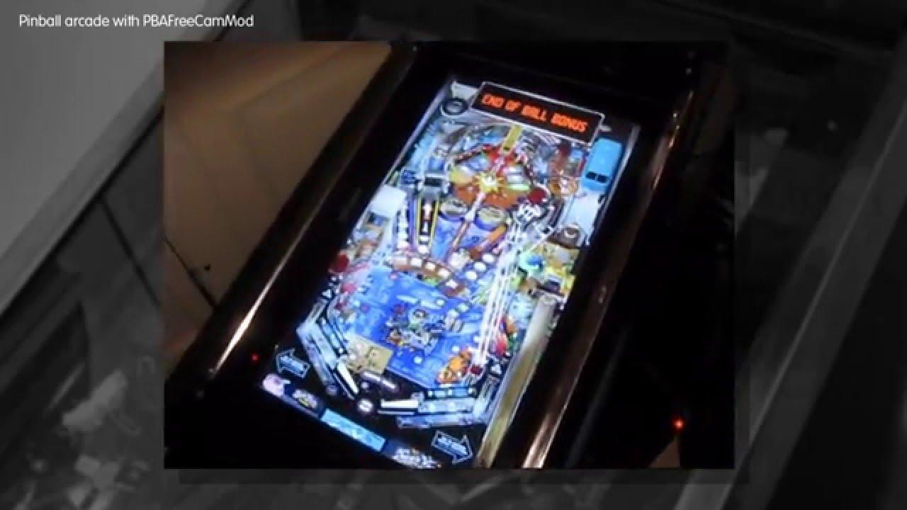 Pinball Arcade PBAFreeCamMod cabinet view mode - YouTube