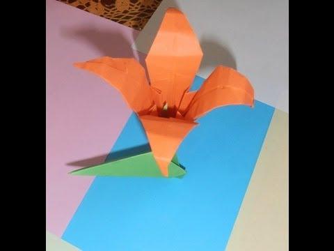 Como Hacer La Flor Iris Con Papel Youtube