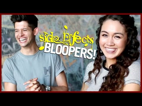 Hunter makes Meg Delacy CRY! SIDE EFFECTS bloopers!