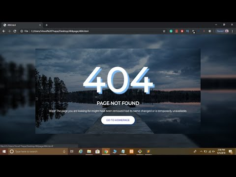 Create Animated Responsive 404 Error Page using HTML and CSS