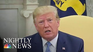 President Donald Trump Says He Might Watch A 'Little Bit' Of Mueller Testimony | NBC Nightly News