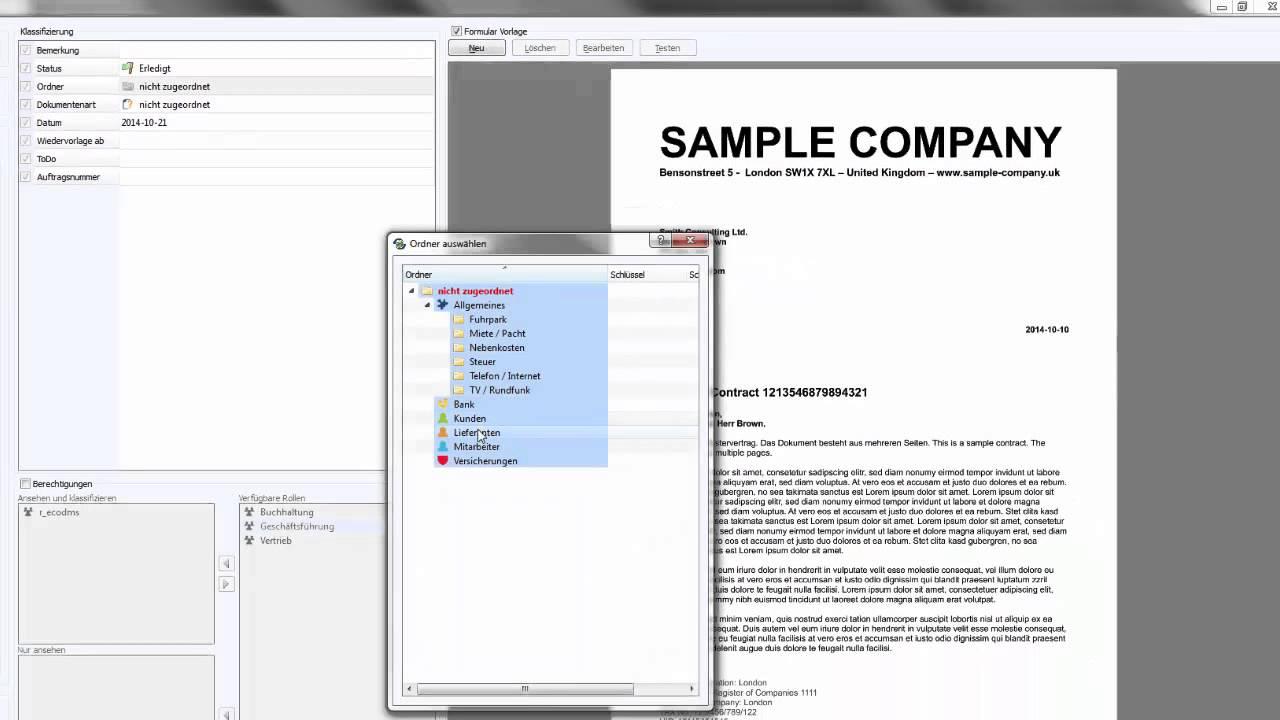 ecoDMS 14.08 - Vorlagen Designer (Automatische Zuordnung) - YouTube