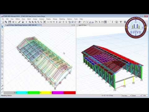 Etabs 2016 Steel Factory Structural Analysis and Design