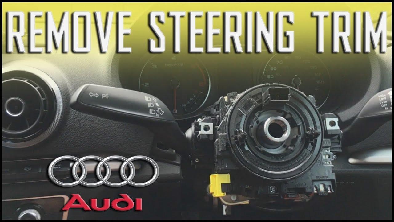 AUDI A3 8V 2013 - Remove/Install Steering Column Trim