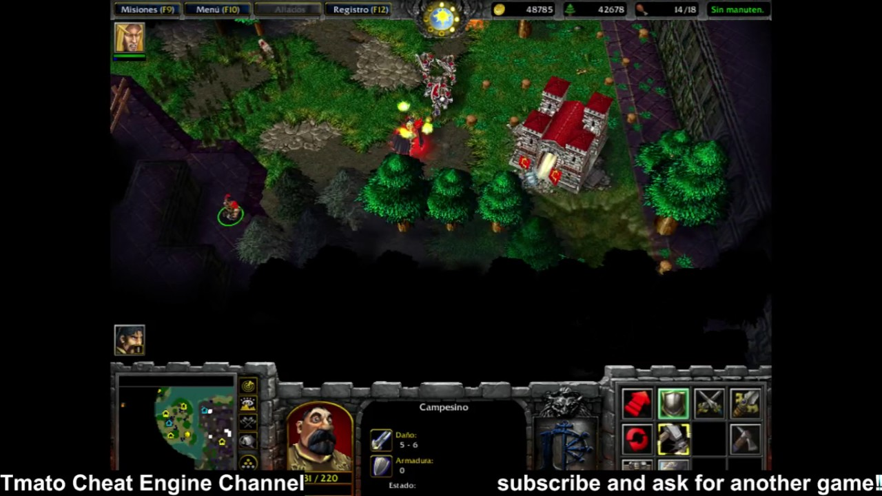 Warcraft Iii Reign Of Chaos Immortal Enemy Hp 1 Infinite Gold