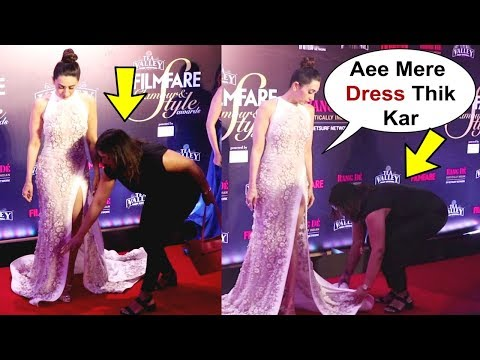Karishma Kapoor Gives Orders To Her Manager At Filmfare Glamour And Style Awards 2019