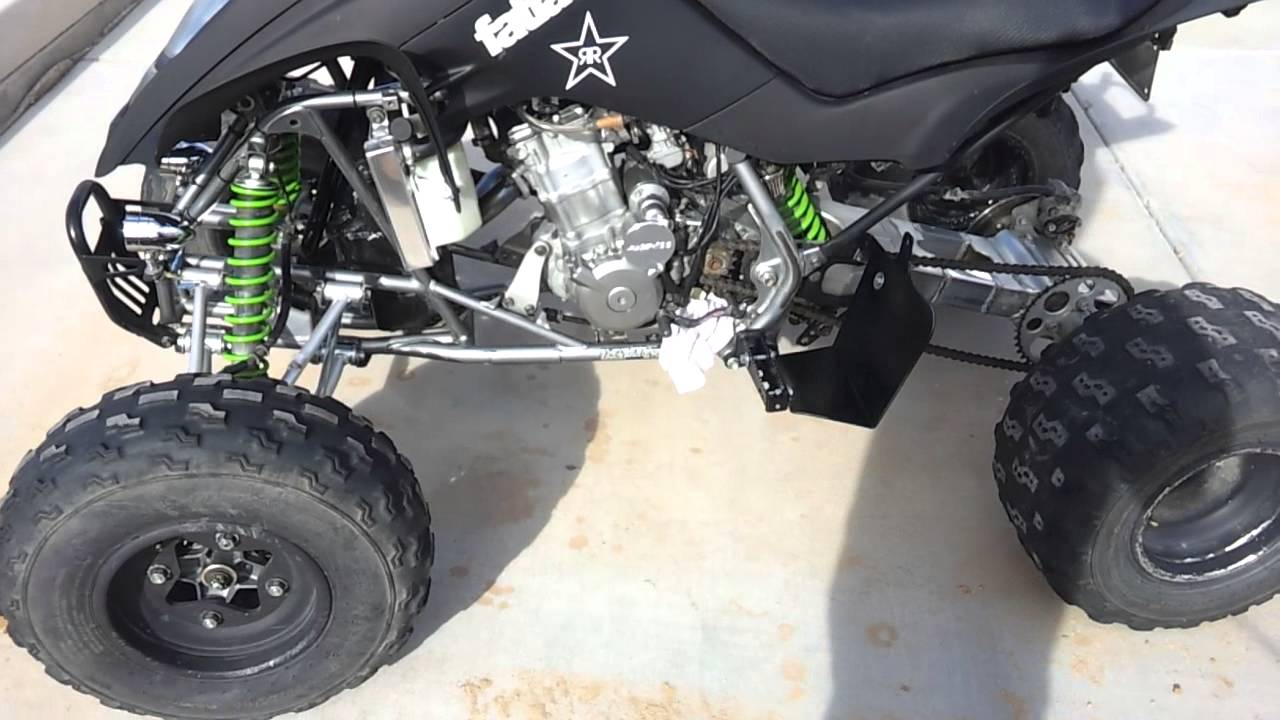Kfx 400 w/ Tudors 450cc big bore kit - YouTube
