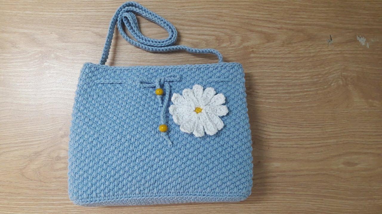Hướng dẫn móc túi xách hoa cúc | Crochet daisy bag | Bluesky Handmade